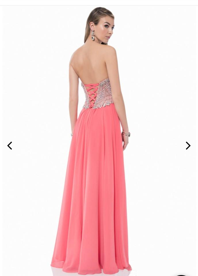 Terani Couture Coral 1611p0207a Long Formal Dress Size 6 S Tradesy