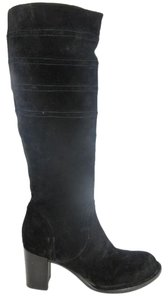 Alberto Fermani Suede Knee High black Boots