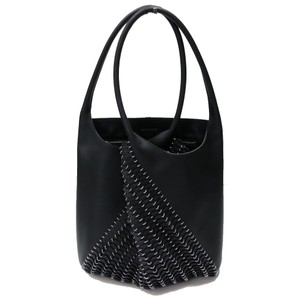 paco rabanne Chain Mail Unique Leather Art Tote in Black