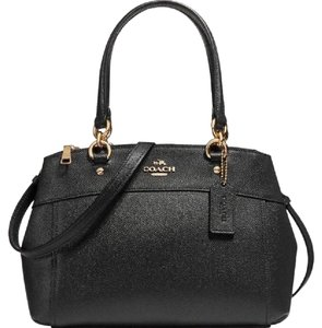 Coach Brooke Leather Satchel in black