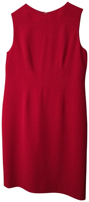 Item - Red - Mid-length Work/Office Dress Size 14 (L)