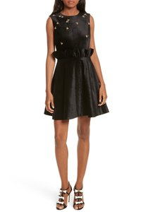 Ted Baker Bumble Bee Velvet Ruffle Party Dress