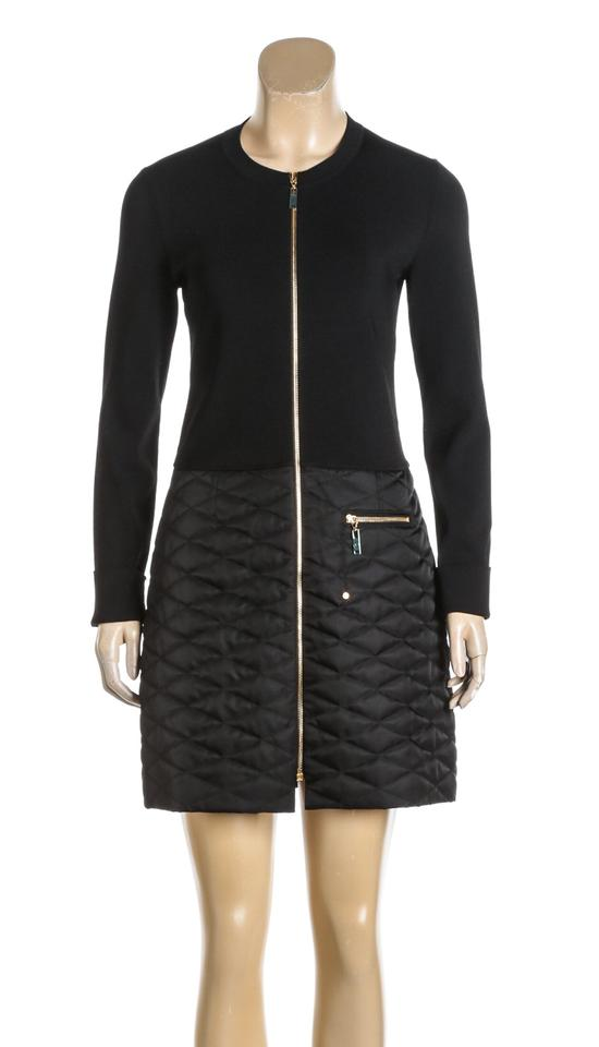 Louis Vuitton Black Knit Long Sleeve Quilted M 485180 Mid Length