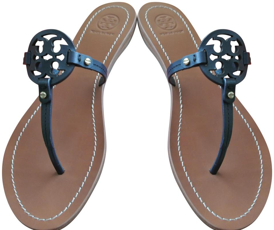 29ef4939e4ba Tory Burch Blue Bright Navy Mini Miller Sandals Size US 7.5 Regular ...