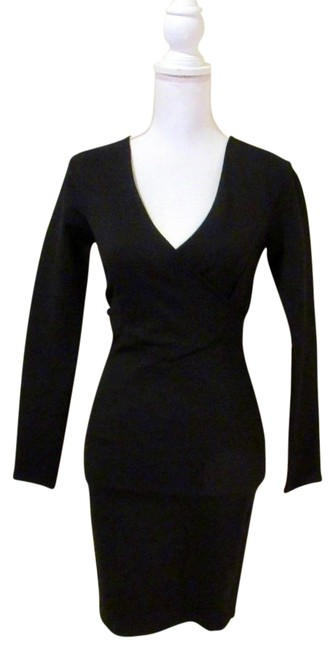 Preload https://img-static.tradesy.com/item/23946282/lulus-black-stretch-wrap-v-neck-cut-out-long-sleeve-zipper-short-cocktail-dress-size-0-xs-0-14-650-650.jpg