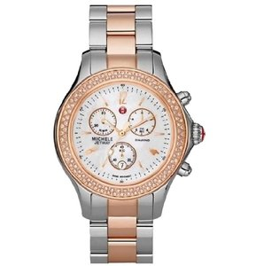 Michele (Rosegold/Silver) Jetway Mother Of Pearl Dial Watch