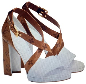 Louis Vuitton Brown-White Sandals