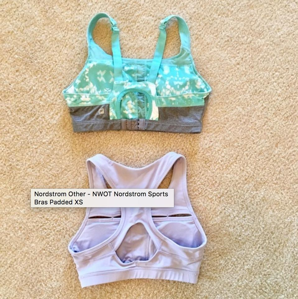 d7f66bbf34 Nordstrom NWOT Nordstrom Sports Bras Padded XS True to Size Fits A   B cup  sizes. 123