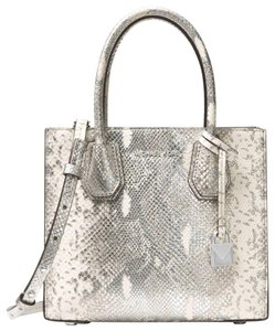 680b79a723e48 Silver Michael Kors Satchels - Up to 90% off at Tradesy