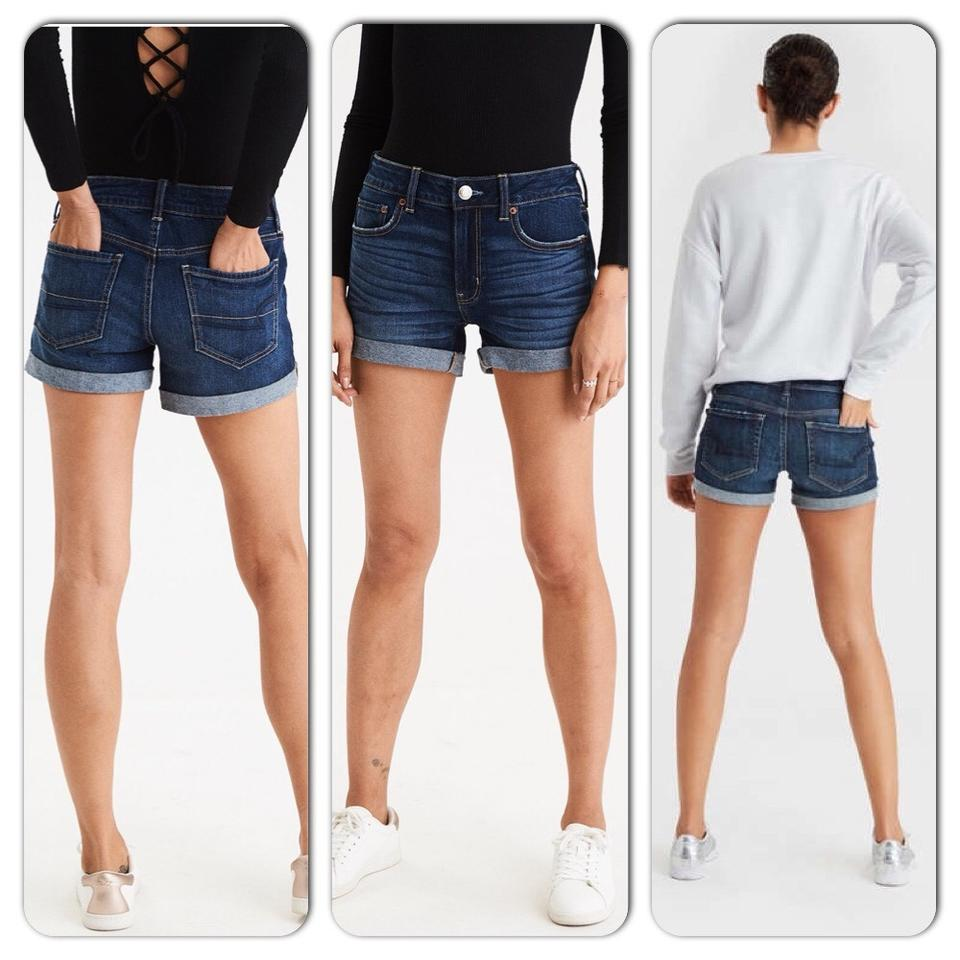 Fashion week Eagle american jean shorts photo for woman