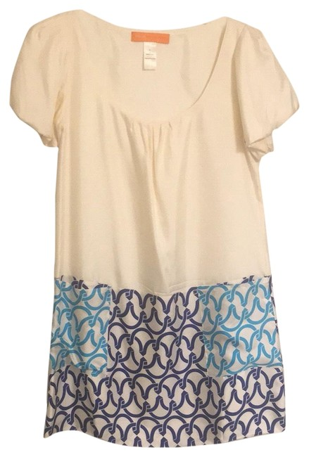 Item - Blue and White Short Night Out Dress Size 4 (S)