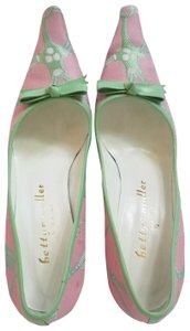 Bettye Muller Pink and mint green Pumps