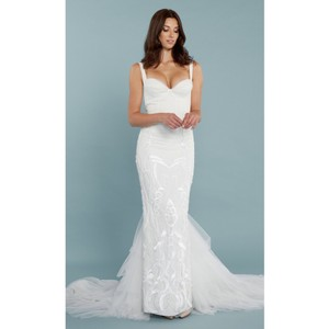 Katie May Geneva Gown Modern Wedding Dress Size 8 (M)