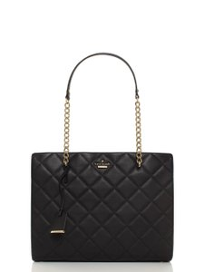 Kate Spade Emerson Place Quilted Leather Shoulder Phoebe Pxru5576 Tote in Black