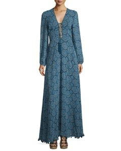 blue paisley Maxi Dress by Talitha