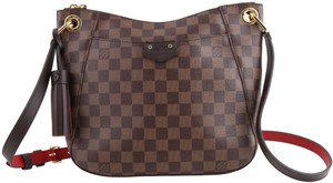 Louis Vuitton Satchel Checkered Crossbody Brown Messenger Bag