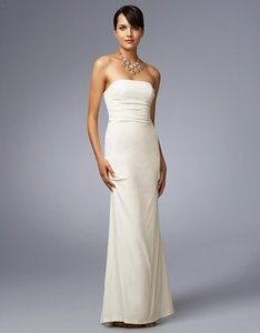 Nicole Miller Off White Silk Sleeveless Casual Wedding Dress Size 4 S