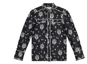 ERDEM x H&M Button Down Top black with floral print
