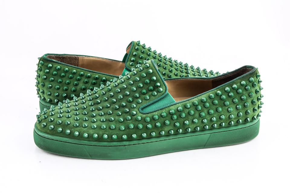 94303404c18d Christian Louboutin Green Roller Boat Flat Jungle Shoes - Tradesy