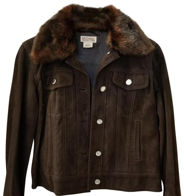 Item - Brown With Removable Fur Collar Jacket Size 4 (S)
