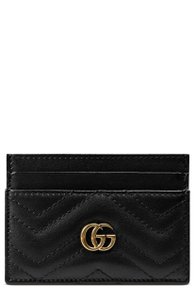 Gucci business card holders up to 70 off at tradesy gucci new gg gucci card case marmont matelasse leather card holder gold colourmoves