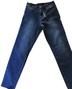 Max Jeans High Rise Fit Mom Denim Highwaisted Straight Leg Jeans-Medium Wash