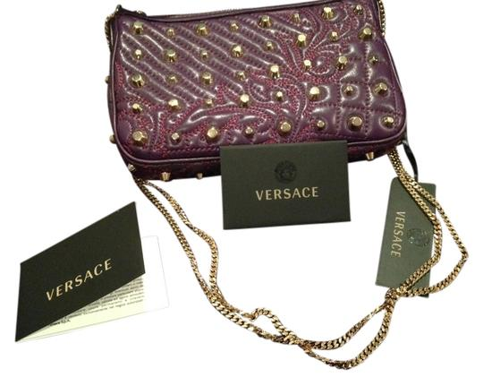 Versace Gold Studs Gold Chain Adjustable Strap Cross Body Bag