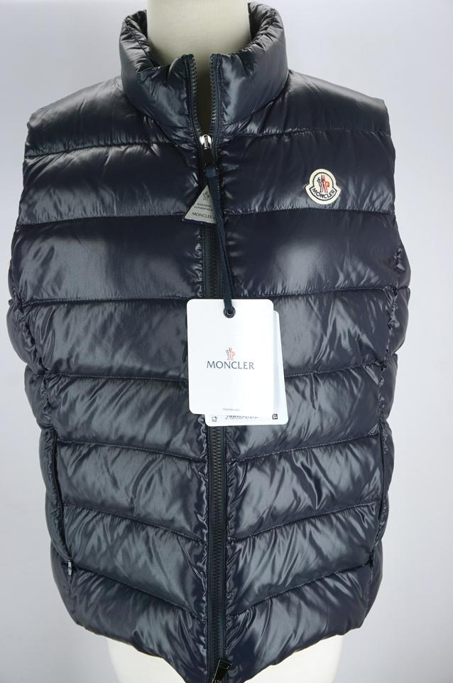 f8c4a1f91 Moncler Blue Ghany Shiny Quilted Nylon Down Puffer Vest Size 12 (L) 40% off  retail