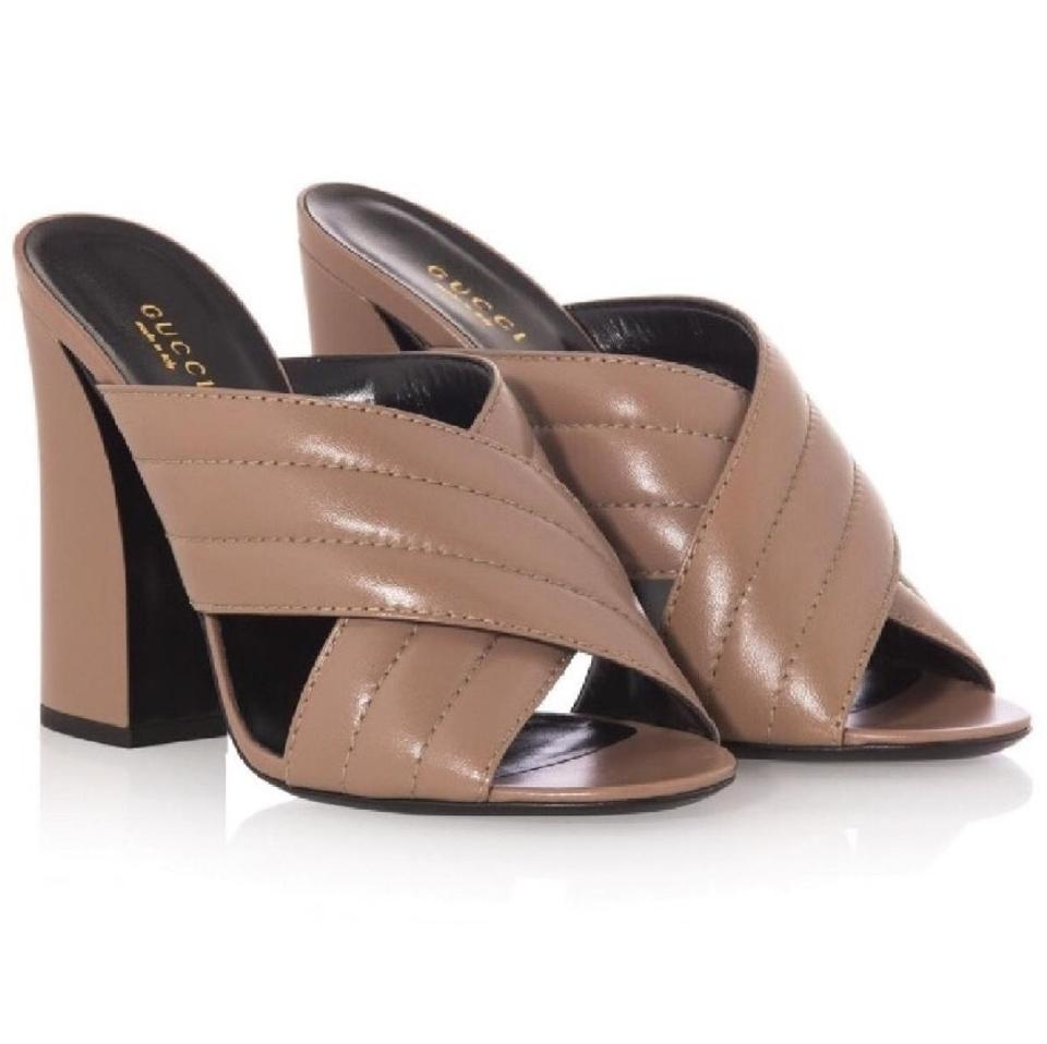 59f5dcfa6fd1 Gucci Crossover Leather Sandals Size EU 38 (Approx. US 8) Regular (M ...