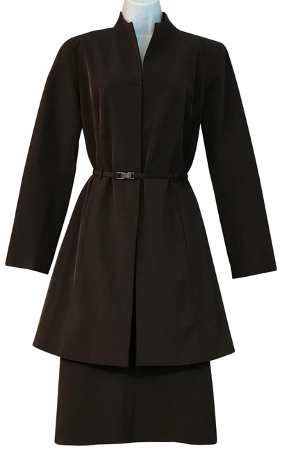 Item - Dark Brown Belted M Skirt Suit Size 8 (M)