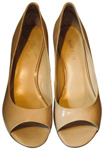 Nine West Patent Leather Nude Wedges