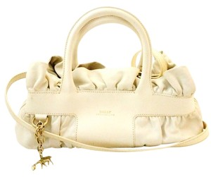 Bally Leather Satchel in white/cream