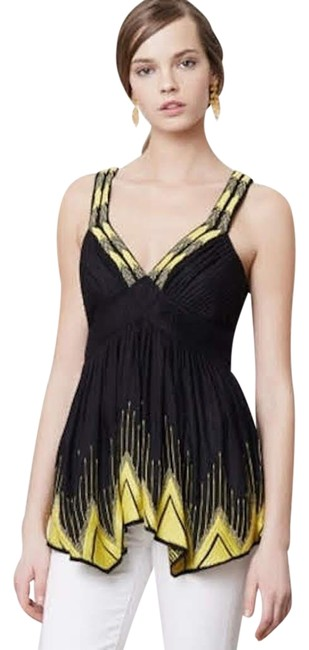 Item - Black/Yellow Flame-tipped Tank Top/Cami Size 6 (S)