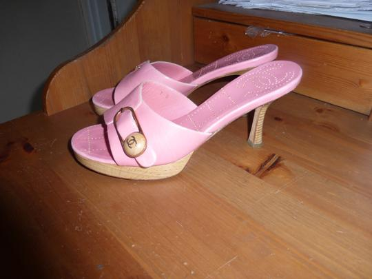 Chanel LIGHT PINK Mules Image 3