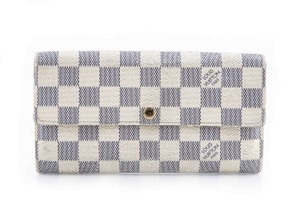Louis Vuitton Louis Vuitton White Damier Azur Coated Canvas Sarah Wallet