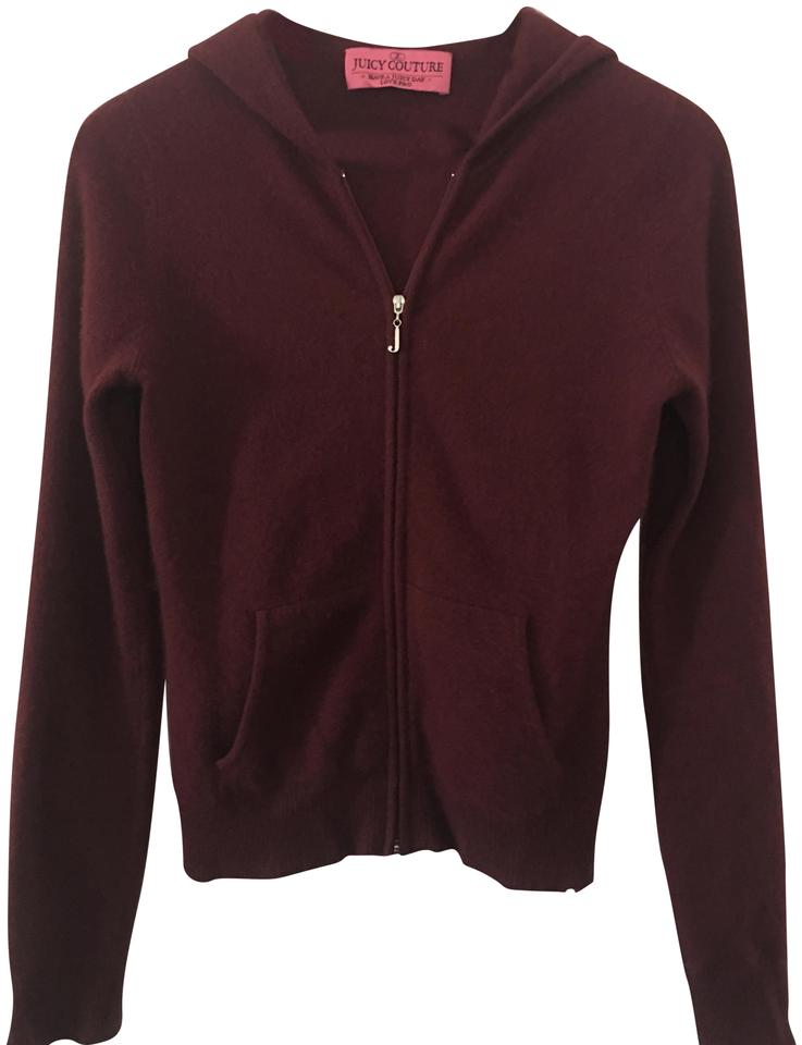 88d735c412 Juicy Couture Burgundy Cashmere Zipup Small Sweatshirt Hoodie Size 4 ...