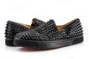 29cb037cd4d5 Christian Louboutin Black Roller-boat Men s Flat Shoes - Tradesy