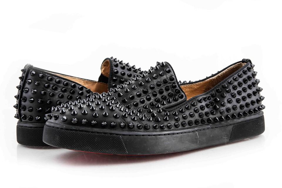 39b5b2921756 Christian Louboutin Black Roller-boat Men s Flat Shoes Image 0 ...