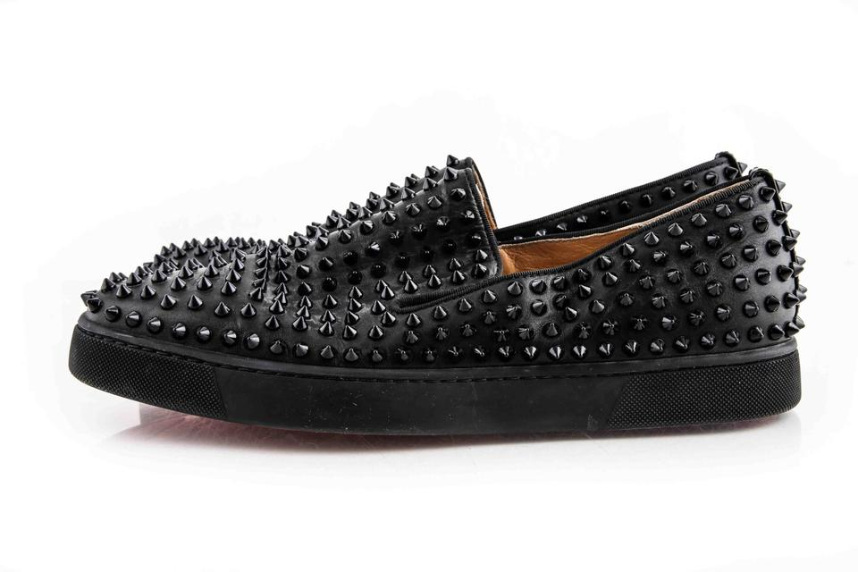 buy online 947cc 03ecf Christian Louboutin Black Roller-boat Men's Flat Shoes 38% off retail