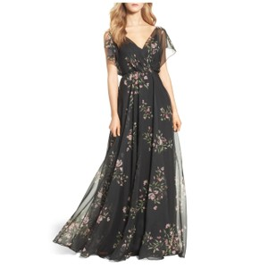 Jenny Yoo Cassie Flutter Sleeve Gown Feminine Bridesmaid/Mob Dress Size 4 (S)
