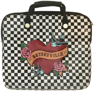Betseyville by Betsey Johnson Purse Stud Checkerboard Laptop Bag