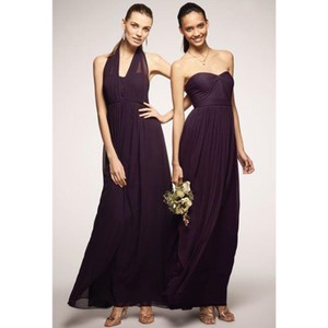 Jenny Yoo Plum Aidan Convertible Chiffon Gown Feminine Bridesmaid/Mob Dress Size 8 (M)