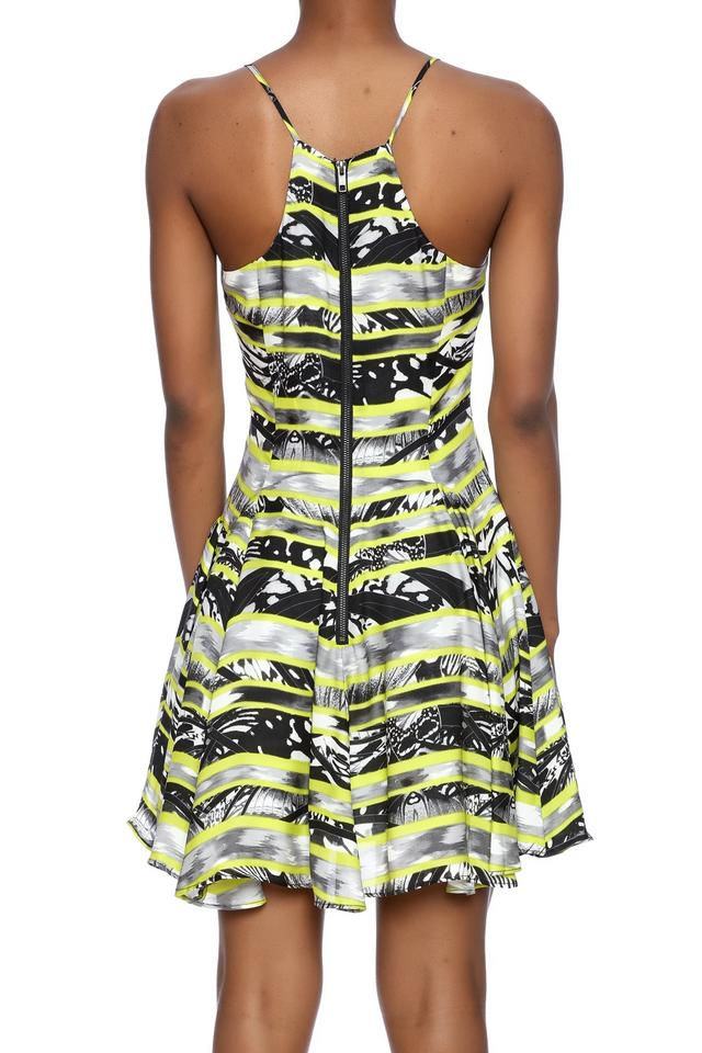 68cf9d97c478 Parker Black Print Quintin Fit and Flare Short Night Out Dress Size 8 (M) -  Tradesy