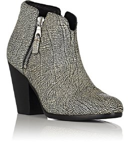 Rag & Bone Black And White Comfortable Fall Crackle Textured Iron Boots