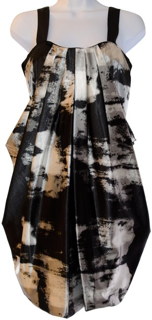 Item - Black and White Cocktail Short Night Out Dress Size 8 (M)