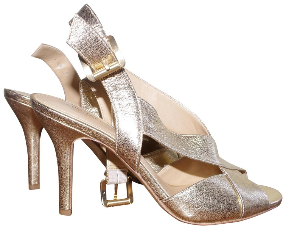 4a3440faa08 MICHAEL Michael Kors Gold Evening Formal Crisscross Slingback Sandals