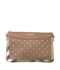 Burberry Canvasxleather Cross Body Bag