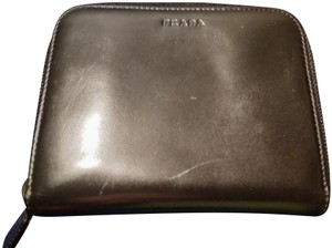 Prada Prada made in Italy black leather trifold wallet