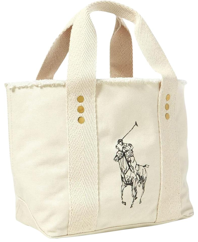 Polo Ralph Lauren Small Ivory Canvas Tote - Tradesy 561abbfd5d665
