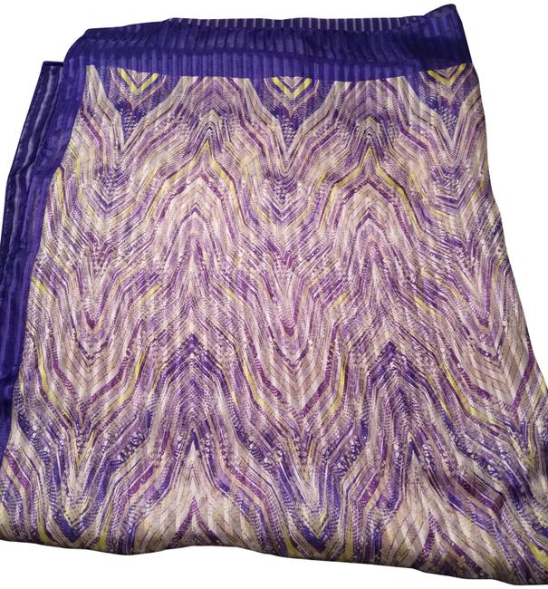 Item - Purple Print Large Long Made In Italy Scarf/Wrap
